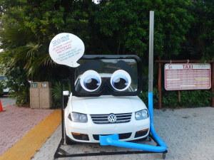 Brincadeira que fizeram, com nosso carro, em Xel-Há
