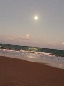 Nascer da lua, vista da varanda
