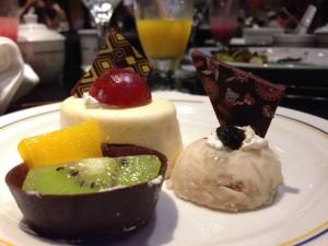 Sobremesa no restaurante Japonês